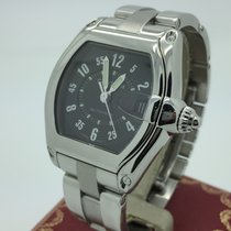 Cartier Roadster Stainless Steel Black Dial 2510 Automatic