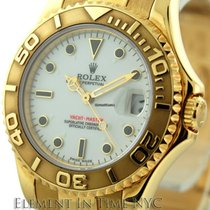 Rolex Yacht-Master MidSize 18k Yellow Gold White Dial Ref. 168628