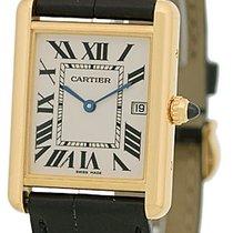"""Cartier """"Louis Cartier Tank"""" Strapwatch."""