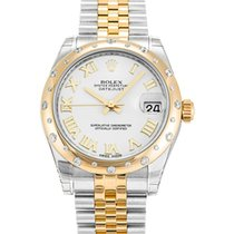 Rolex Datejust 31mm Steel & 18K Yellow Gold 24 Diamond Bezel