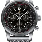 Breitling Transocean Chronograph Unitime Automatic in Steel