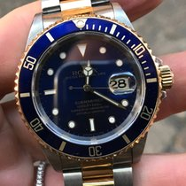 Rolex Submariner Oro Acciaio Gold steel blu blue full