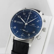 IWC Portuguese Automatic Chronograph IW371447 Black Dial...