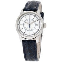 Hamilton Railroad Mother Of Pearl Dial Blue Leather Ladies...