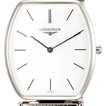 Longines La Grande Classique Stainless Steel Mens Watch White...
