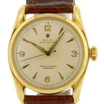 """Rolex 18k Oyster Perpetual """"Bombay Lugs"""" Arabic..."""