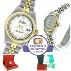 Rolex DateJust 26mm 79173 Y White Roman Two-Tone Jubilee Watch