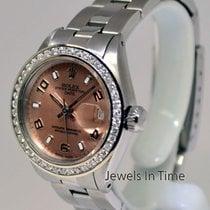 Rolex Ladies Date Steel 14k Gold & Diamonds Oyster...
