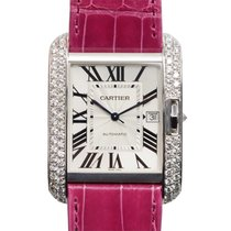 Cartier Tank 18k White Gold Silvery White Automatic WT100023