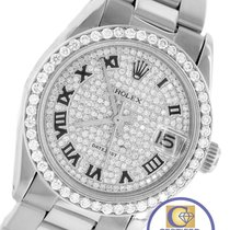 Rolex DateJust Mid-Size 31mm 6827 Stainless Roman Pave Diamond