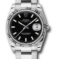 Rolex Watches: 115234 bkso Date 34mm Fluted Bezel - Oyster B