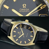 Omega Geneve Automatic Quick Date Roll Gold Steel Mens Watch