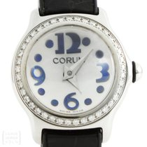 Corum Bubble Lady Brillanten Quarz Edelstahl Ref. 10115147
