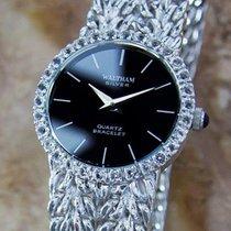 Waltham Solid 925 Silver 1970s Ladies Swiss Made Quartz Luxury...