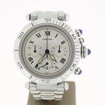 Cartier Pasha Chronograph FULLSTEEL WhiteRoman (B&P2000)...