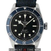 Tudor Heritage Stainless Steel Blue Bezel Black Dial 41mm