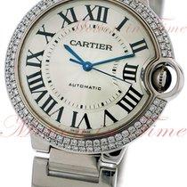 Cartier Ballon Bleu Medium Automatic, Silver Dial, Diamond...