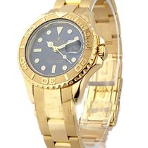 Rolex Used 169628_used_blue Yacht-Master Ladies Yellow Gold...
