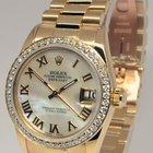 Rolex President 18k Gold & Diamond Dial 31mm Ladies Watch...