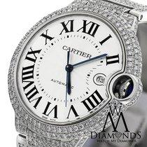 Cartier Original Pave Diamonds Ballon Bleu 42mm W69012z4 Roman...