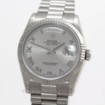 Rolex President 118239 18K White Gold Rhodium Roman