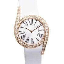 Piaget Limelight 18 K Rose Gold With Diamonds Silver Quartz...