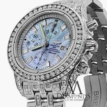 Breitling Evolution A13356 Blue Mop Dial 18ct Diamond Watch
