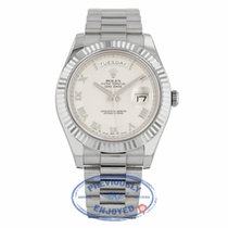 Rolex Day-Date II White Gold President Ivory Roman Concentric