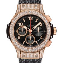 Hublot Big Bang 341.PX.130.RX.174 Black Arabic Diamond Set...