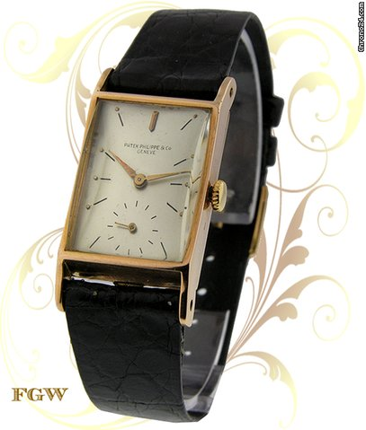 Patek Philippe 1445/1 Vintage Rectangle, Rose Gold, ca. 1941