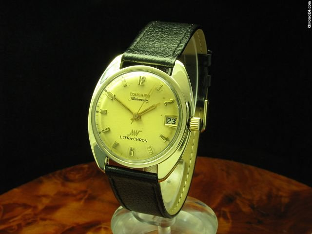 Longines Ultra Chron 10kt Gold Mantel Automatic Herrenuhr