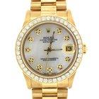 Rolex Lady Datejust 18k Gold MOP 1.50ctw Diamond 68278 31mm Watch