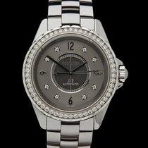 Chanel J12 Ceramic Diamonds Stainless Steel/Grey Ceramic...