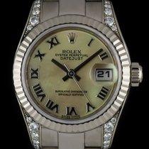 Rolex 18k 18k W/G O/P MOP Dial Diamond Set Datejust Ladies 179239