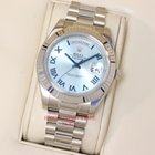 Rolex Day-Date II Blue Roman Dial White Gold President 218239