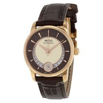 Mido Men's Baroncelli Cream and Brown Dial Watch