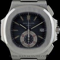 Patek Philippe Stainless Steel Black-Blue Dial Nautilus...