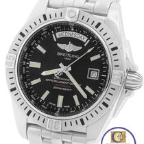 Breitling Galactic 44 Day-Date Stainless Steel A45320 44mm...