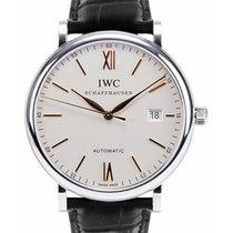 IWC Schaffhausen IW356517 Portofino Automatic Silver Plated...