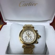 Cartier Pasha Chronograph 36mm Ref. 1353 Yellow Gold