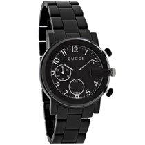 Gucci 101 G-Chronograph Mens Black Ceramic Swiss Quartz Watch...