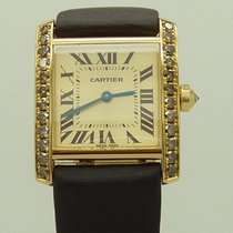 "Cartier 18k Tank Francaise 1821 ""Boutique"" With..."