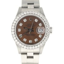 Rolex Datejust Ladies Original Chocolate Diamond Dial Watch