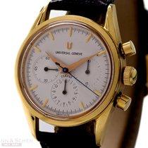 Universal Genève Compax Chronograph Ref-484440 18k Yellow Gold...