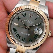 Rolex Datejust Ii 116333 Mens Steel & Yellow Gold Slate...