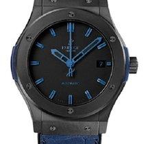Hublot Fusion All Black Blue Ceramic Men's Watch