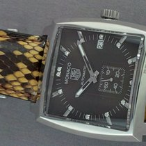 TAG Heuer MONACO Wine colored dial w/Diamonds Snakeskin...