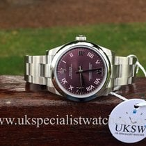 Rolex Oyster Perpetual MidSize – Red Grape Dial – 177200