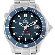 Omega Seamaster Bond 300m Gmt Co-axial Blue Dial Watch 2535.80.00