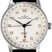 Zeno-Watch Basel -Watch Herrenuhr - X-Large Retro Pointer date...